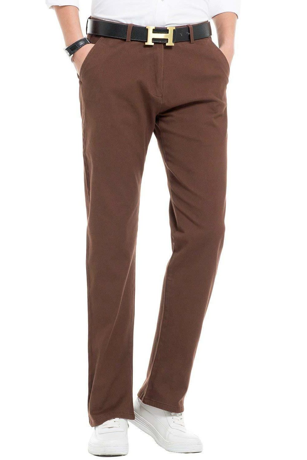 INFLATION Men's Stretchy Straight Fit Casual Pants, Blend Co