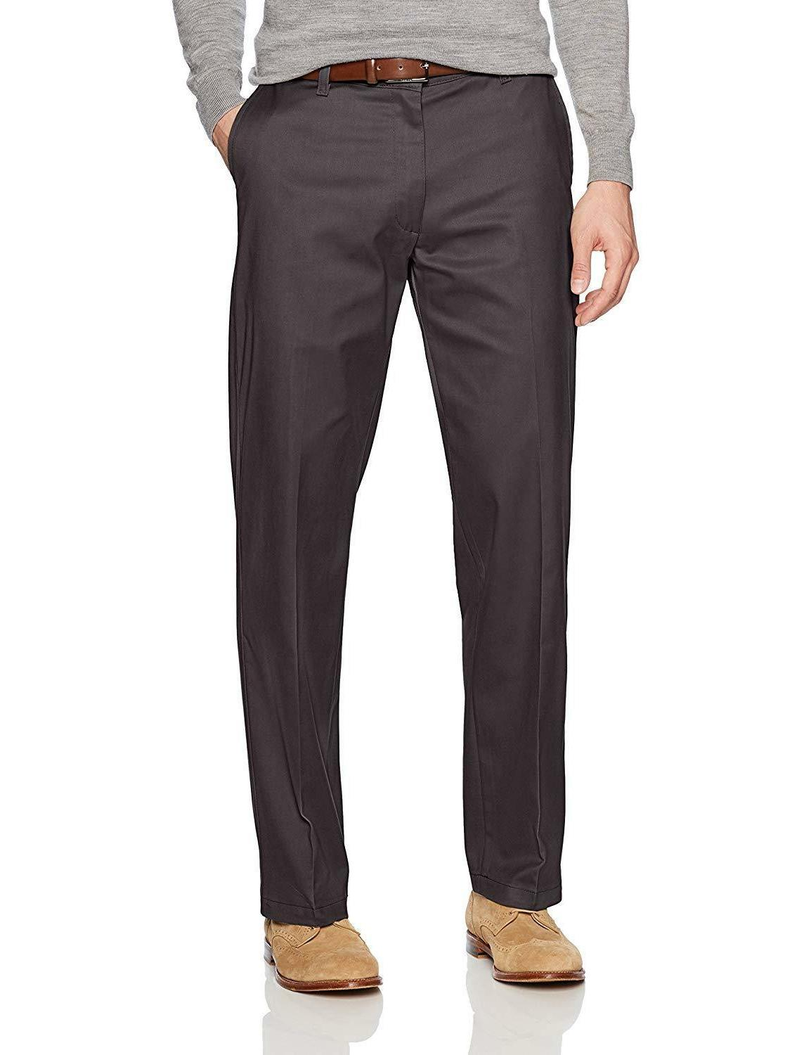 LEE Men's Stretch Relaxed Fit Flat Front