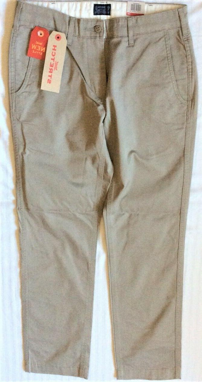 0003 Beige Twill ~ Fit ~Stretch Chinos Pants