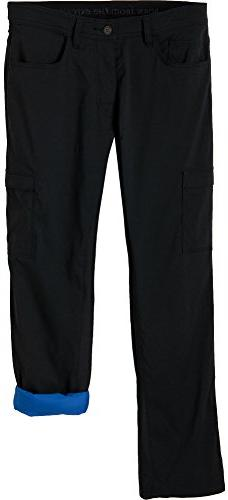 prAna Living Men's Stretch Zion Lined Pant, 32, Black