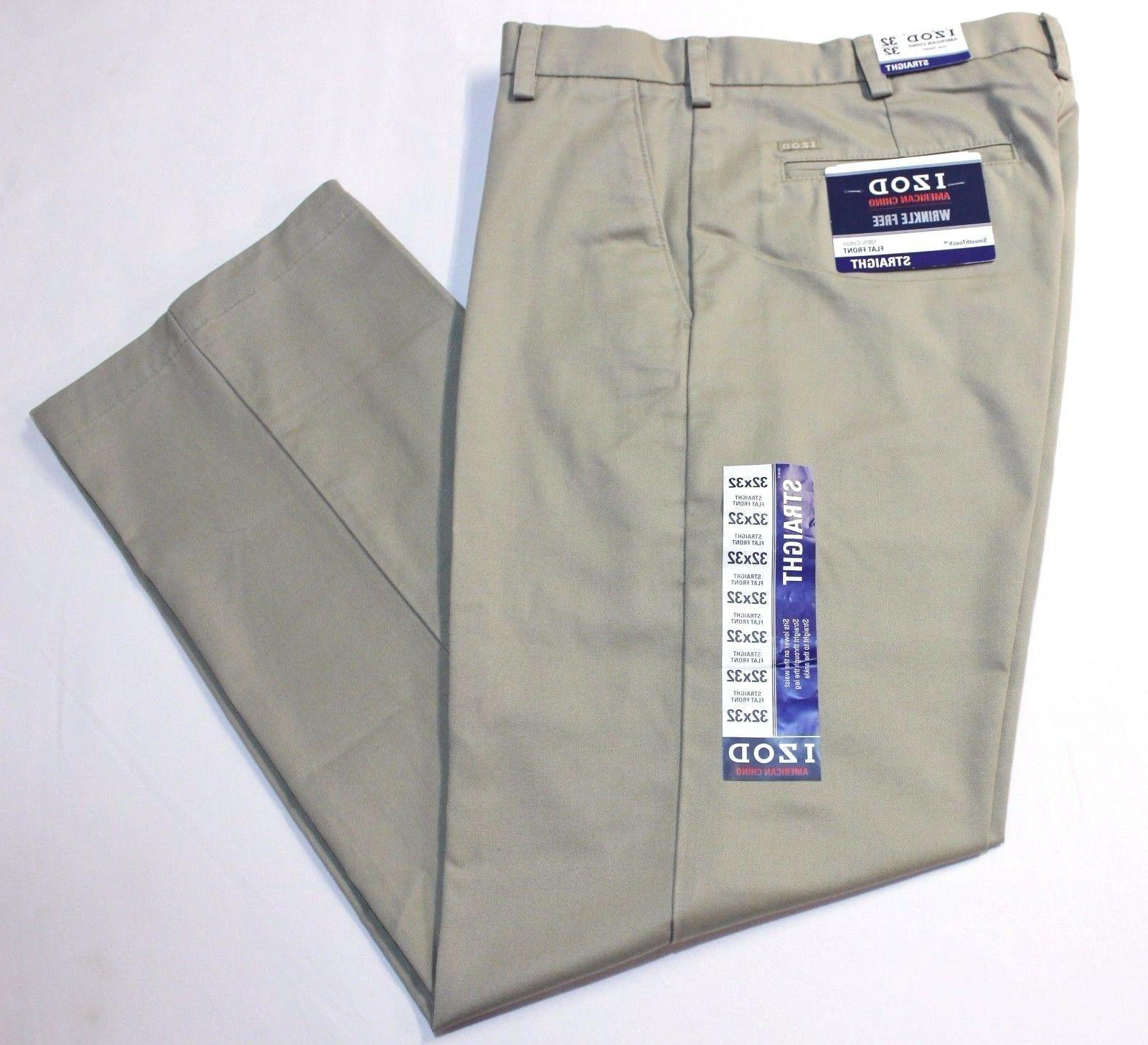men american chino wrinkle free straight flat
