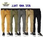 MEN BIG AND TALL JOGGERS PANTS SOUTHPOLE TWILL STRETCH FIT C