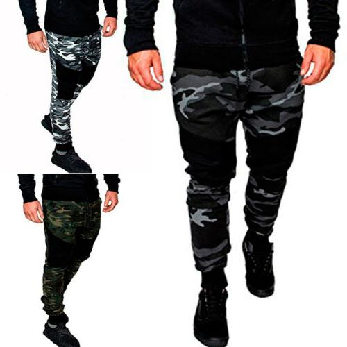 men camo cargo joggers jogging running pants