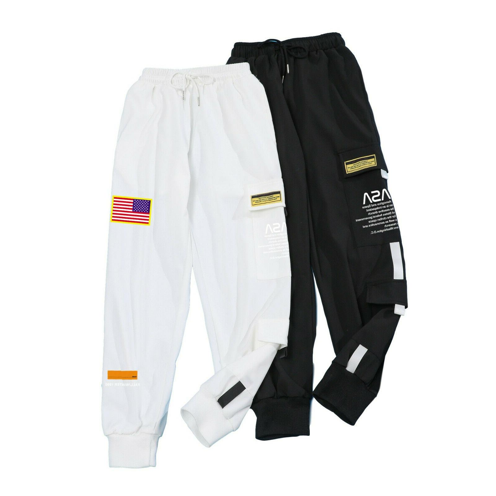 Men NASA Embroidery Joggers Pants Sweatpants Sport Trousers