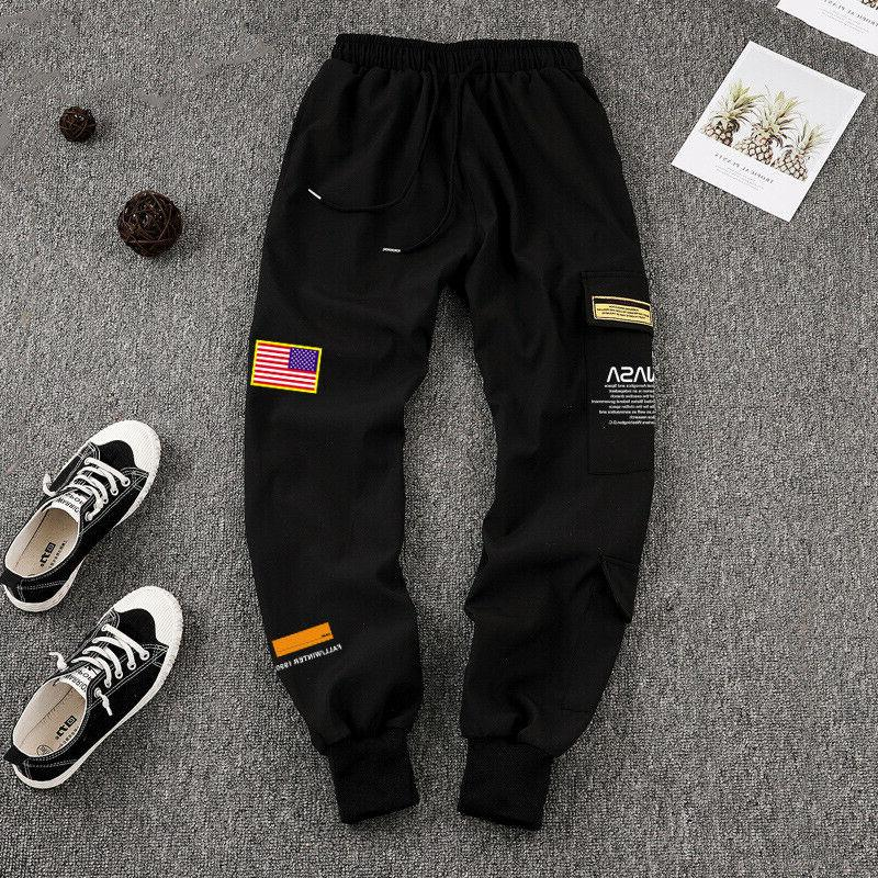 Men Embroidery Joggers Sport Urban Trousers
