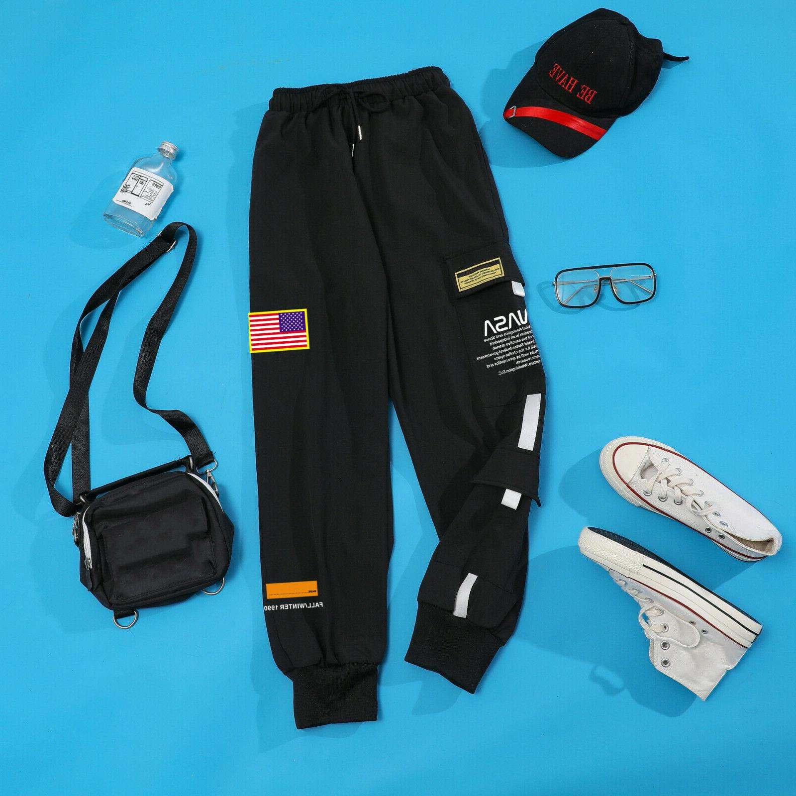 Men Embroidery Joggers Cargo