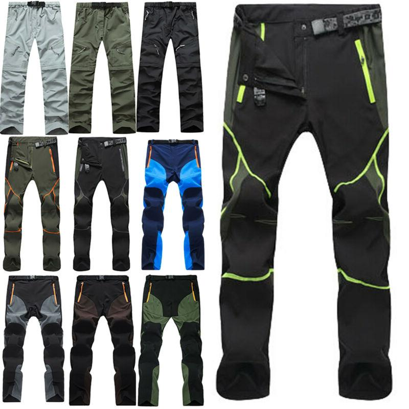 men casual pants tactical waterproof hiking climbing
