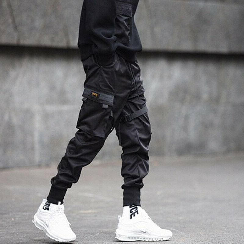 Men Casual Cargo Pants Combat Sport Urban Trousers