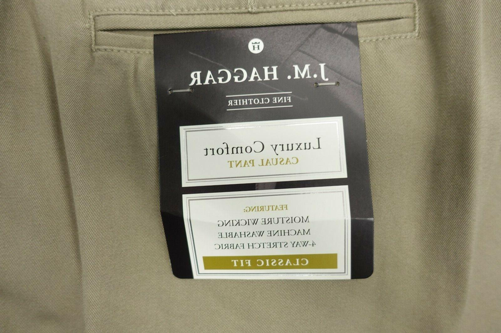 Men JM Haggar Luxury Waist 4 Way Stretch