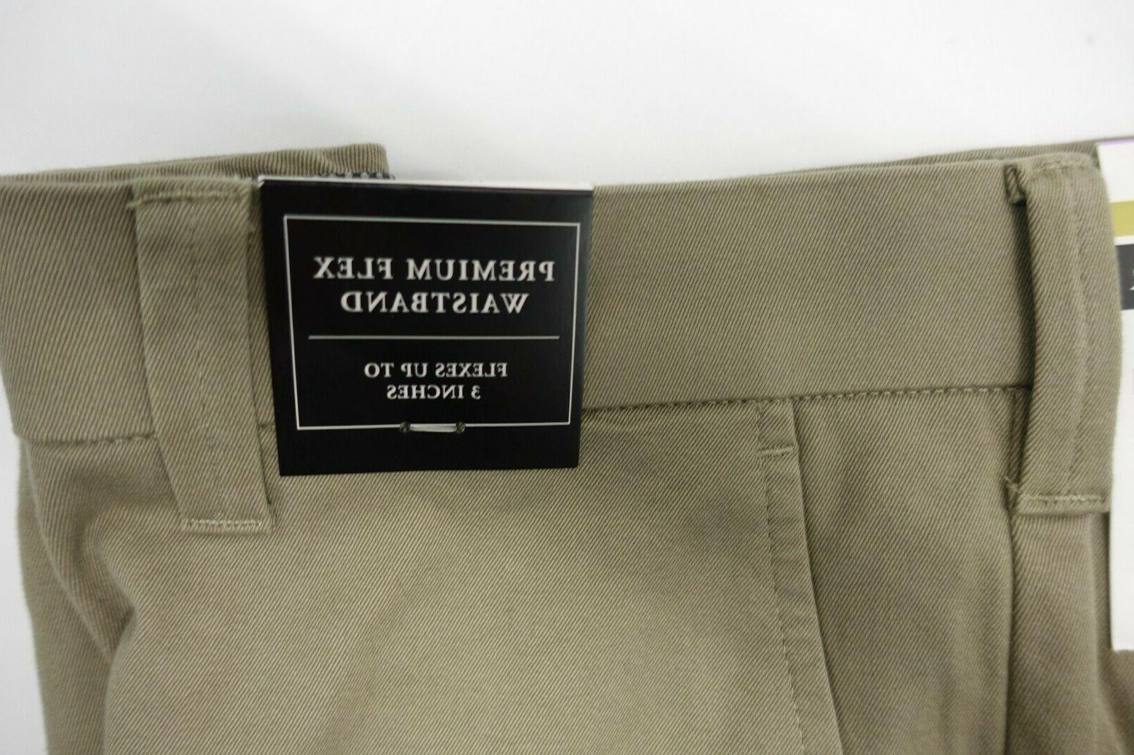 Men JM Haggar Luxury Comfort Pants Waist Way Stretch