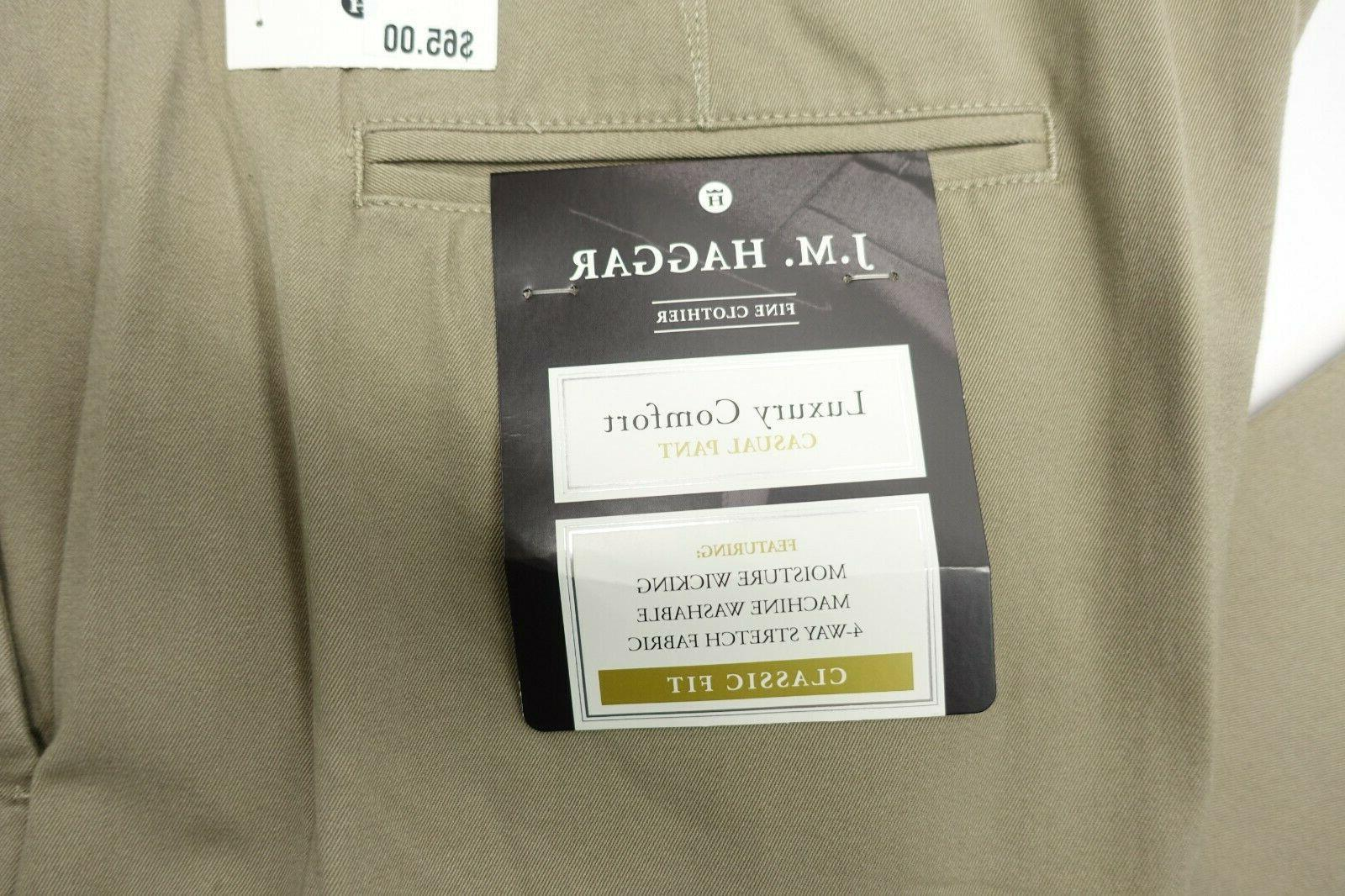 Men Haggar Comfort Waist Classic Way Stretch