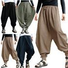 Men Loose Baggy Pants Drop Crotch Aladdin Ali Baba Yoga Wide