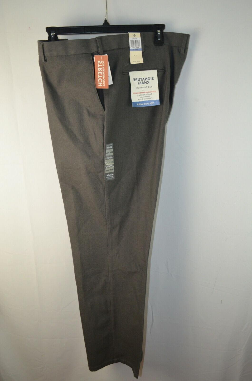 Dockers Men's Big and Tall Signature Khaki Pant 48 x 34 Burm