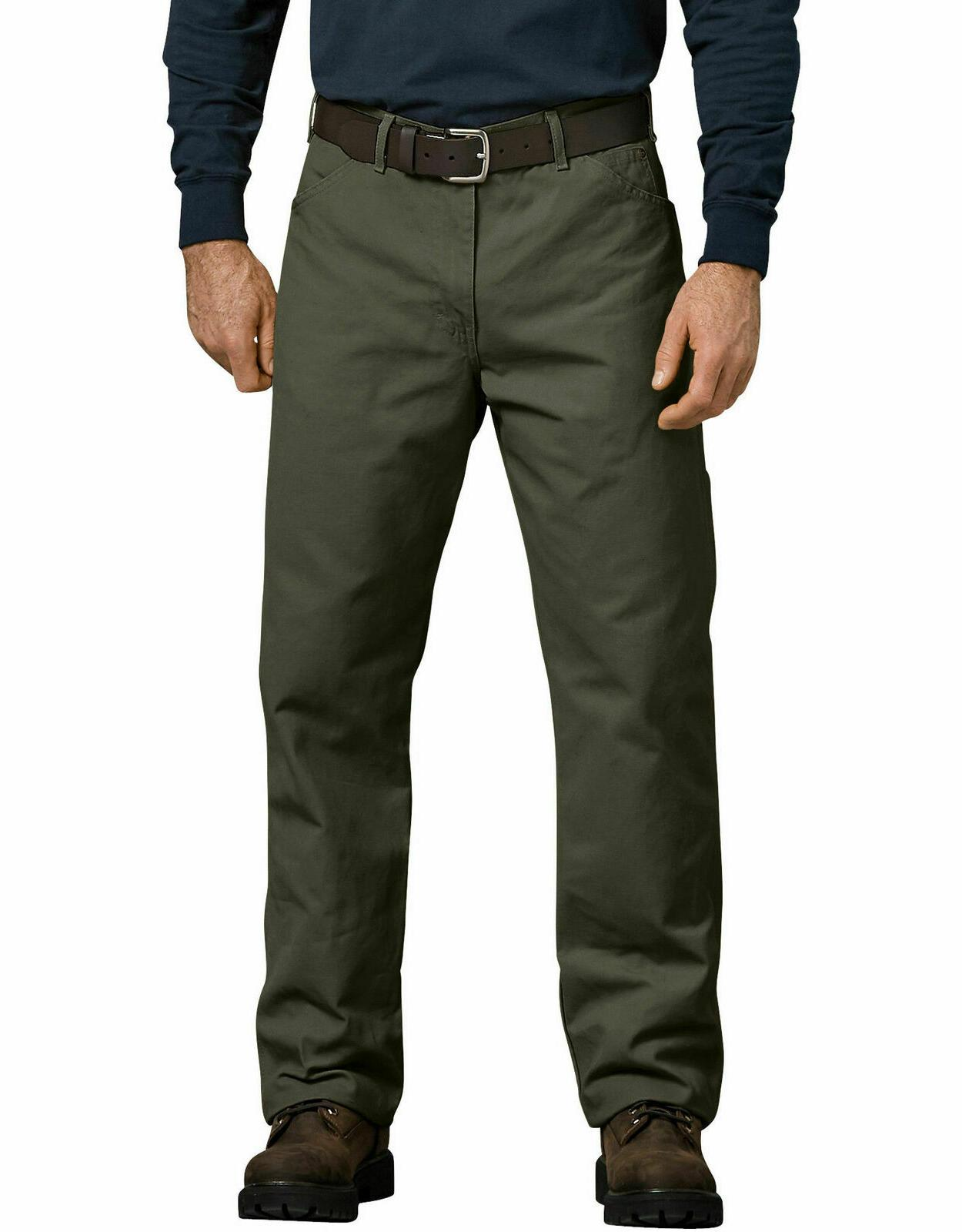 Dickies Men's 44 x Pants Relaxed Straight Green Duck
