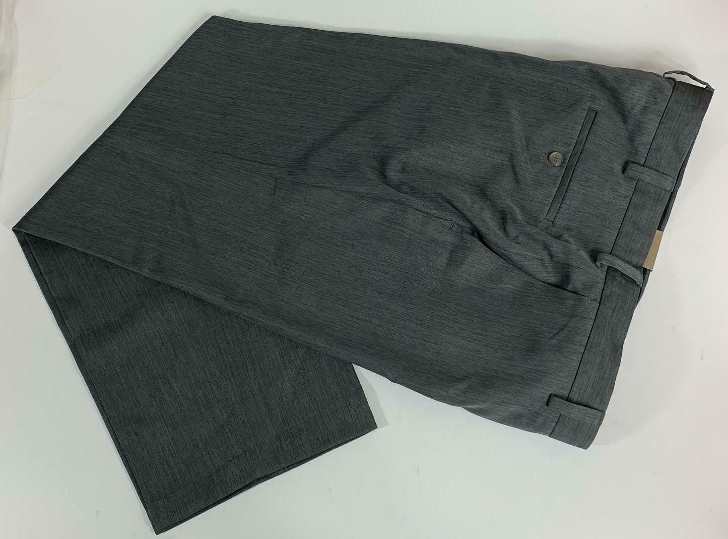 Haggar Classic Fit Plain Front Grey New with Tags!