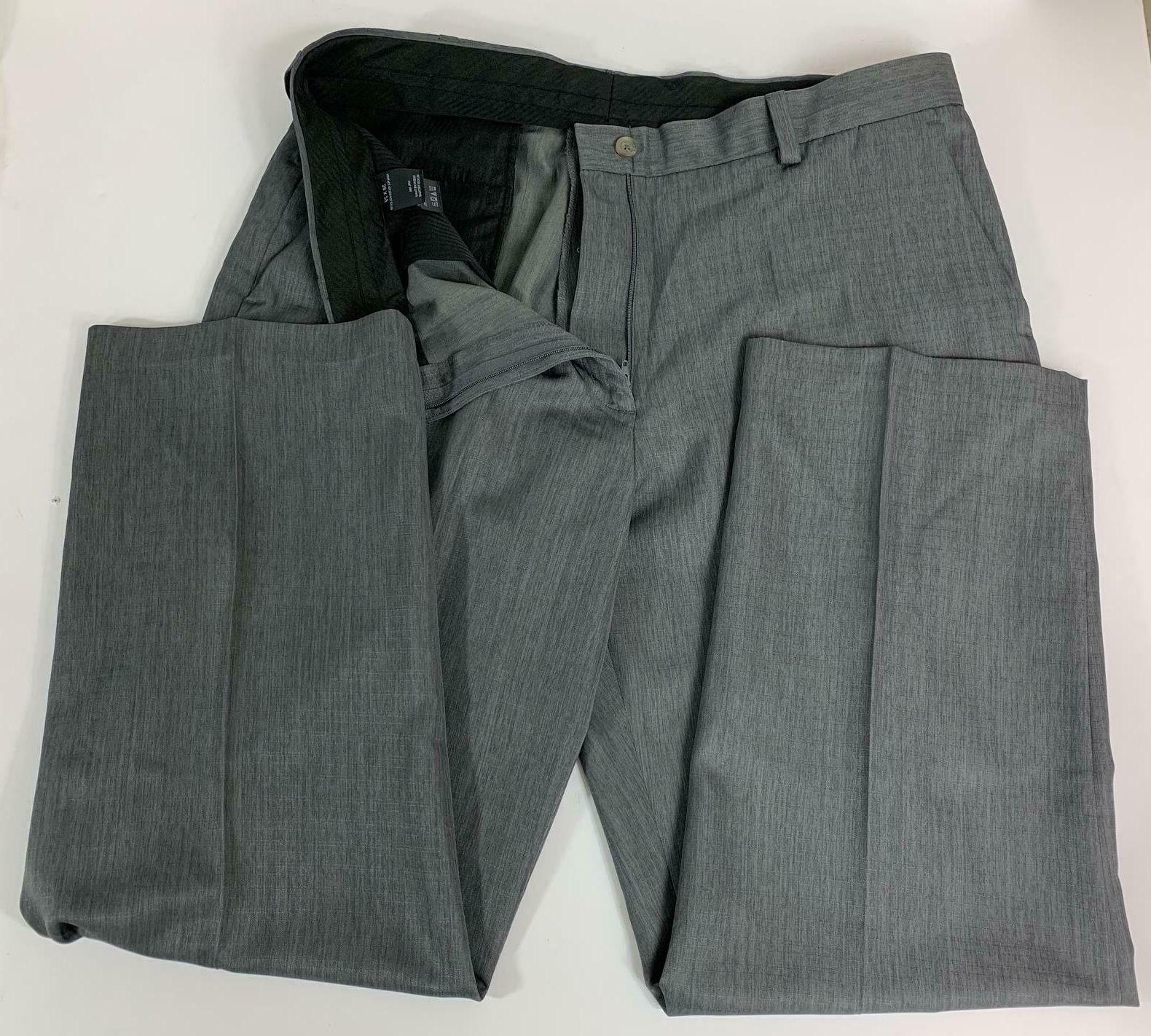 Haggar Men's Plain Front Dress Grey 38 29 New with