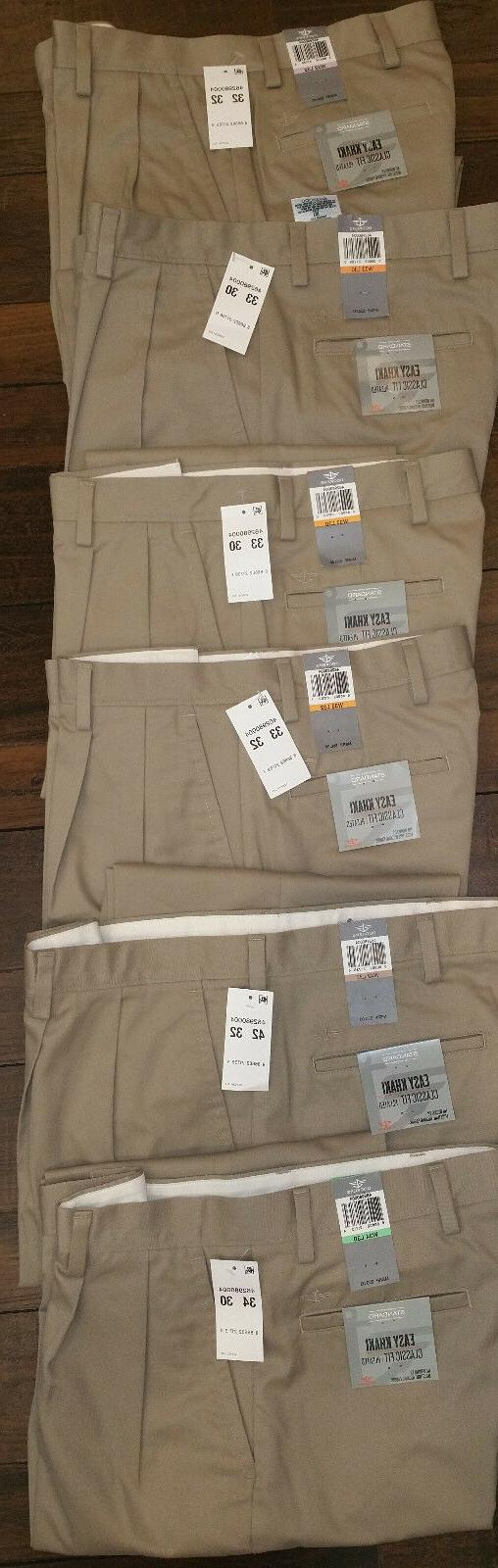Men's Easy Classic Fit Pleated New 46298-0004