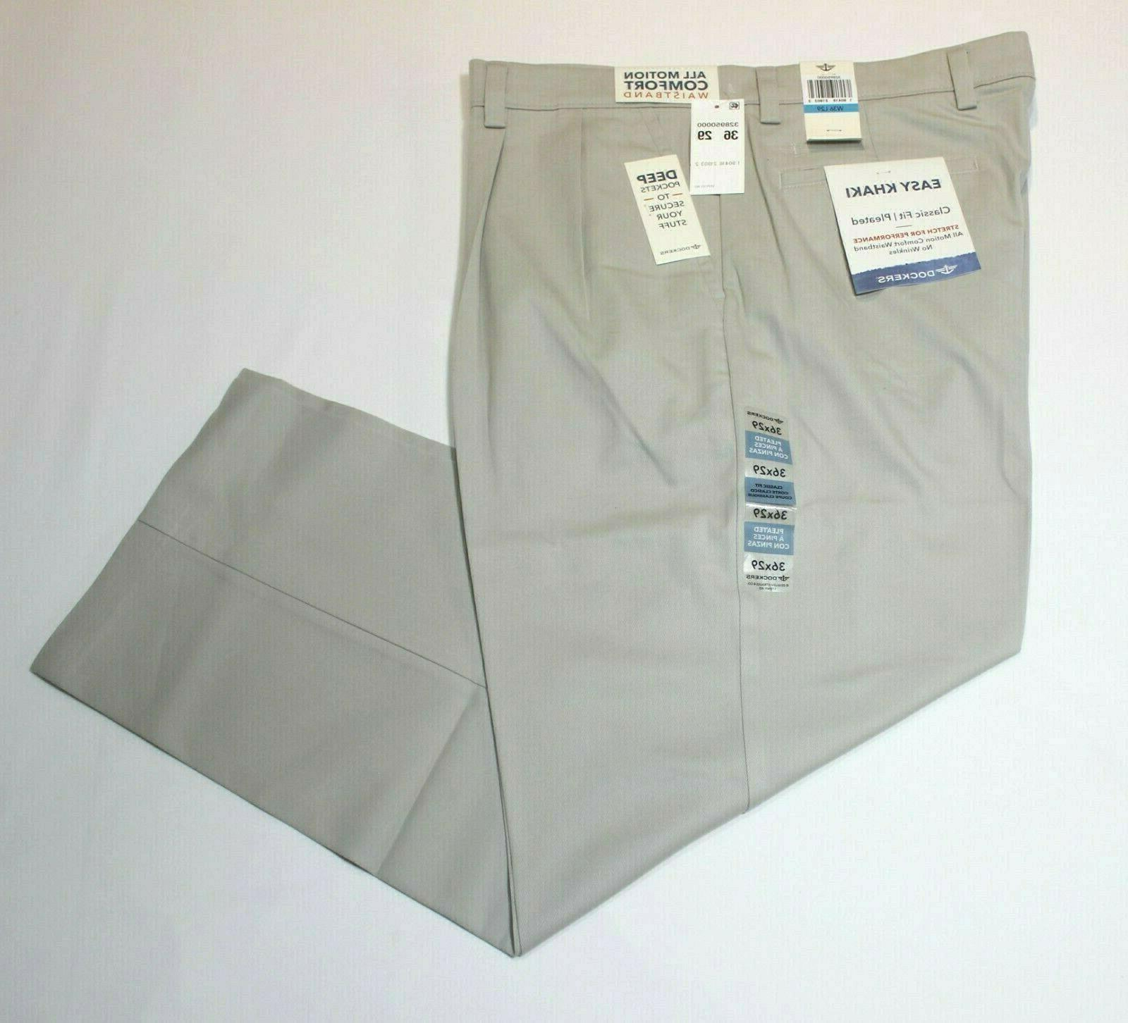 Men's Dockers Pleated Waistband Fit 64% Pants