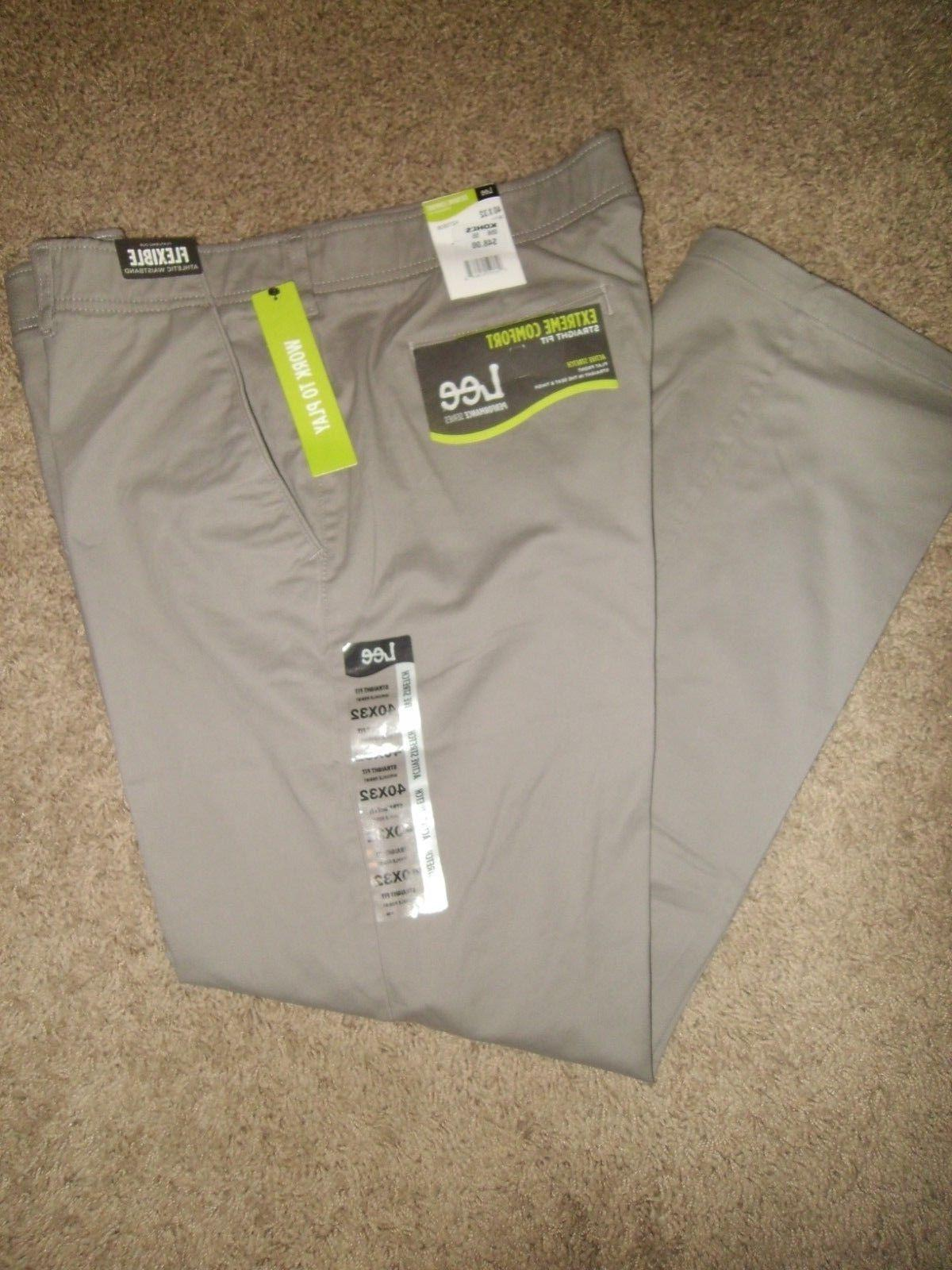 Lee Extreme Comfort Performance Front Dark Gray NWT