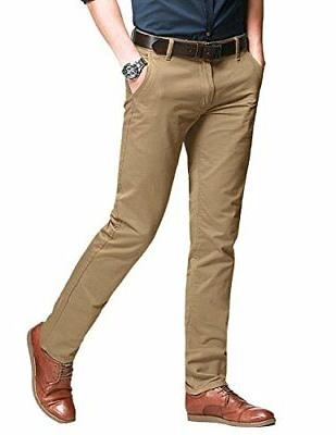 men s fit tapered stretchy casual pants