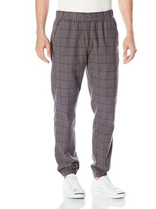 UNIONBAY Men's Koen Plaid Jogger Pants GRAY Small S NEW