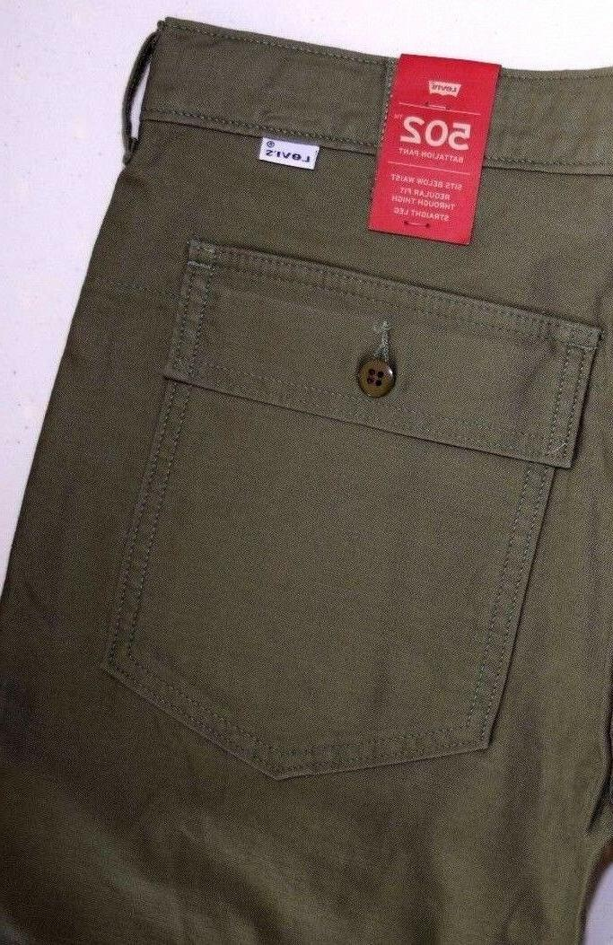 Men's Levi's 502 BATTALION  Pants Retail: $59.50