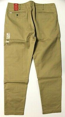 Men's Chino Tapered Pants Gold - 36x32