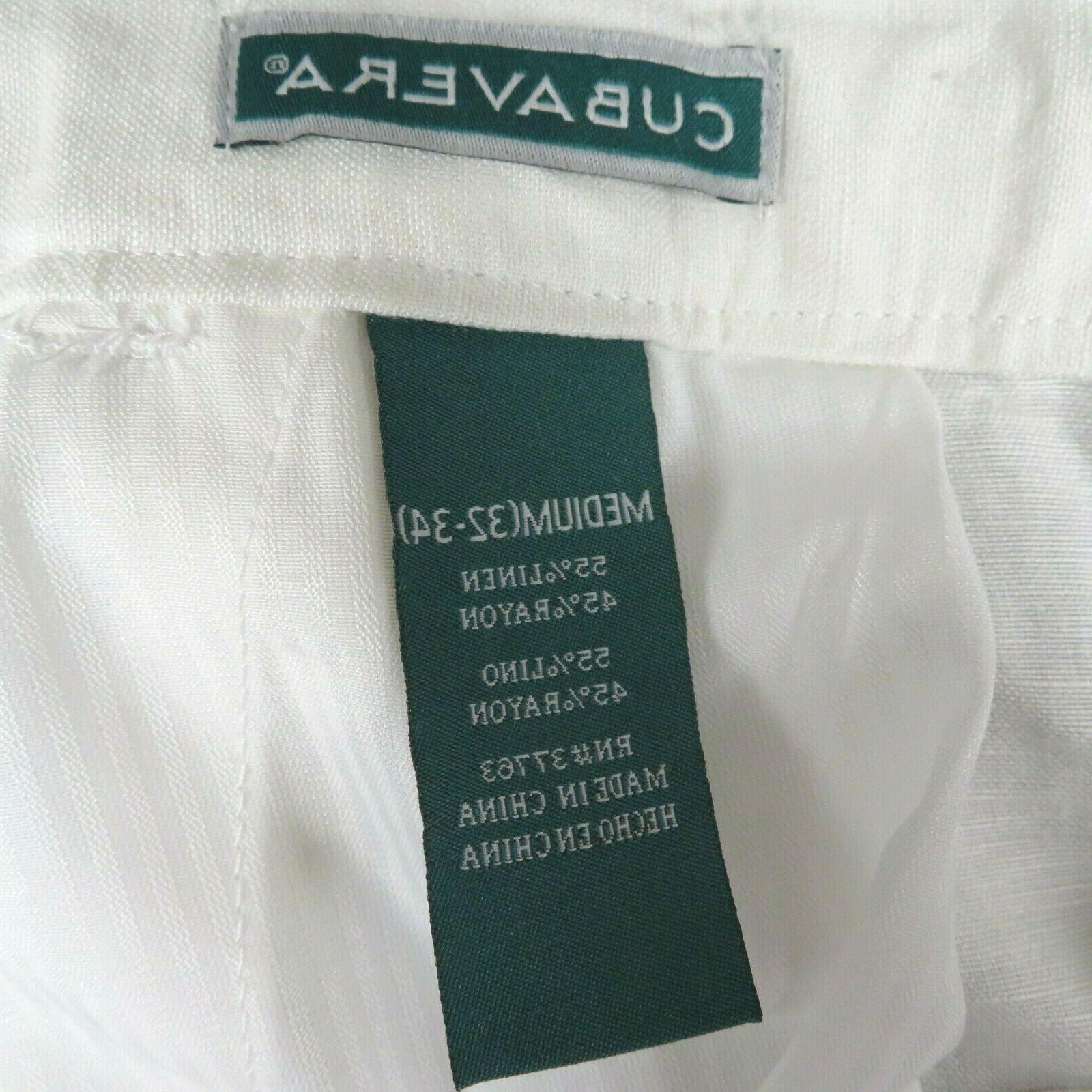 Men's Cubavera Waist Pants 32-34 Beige