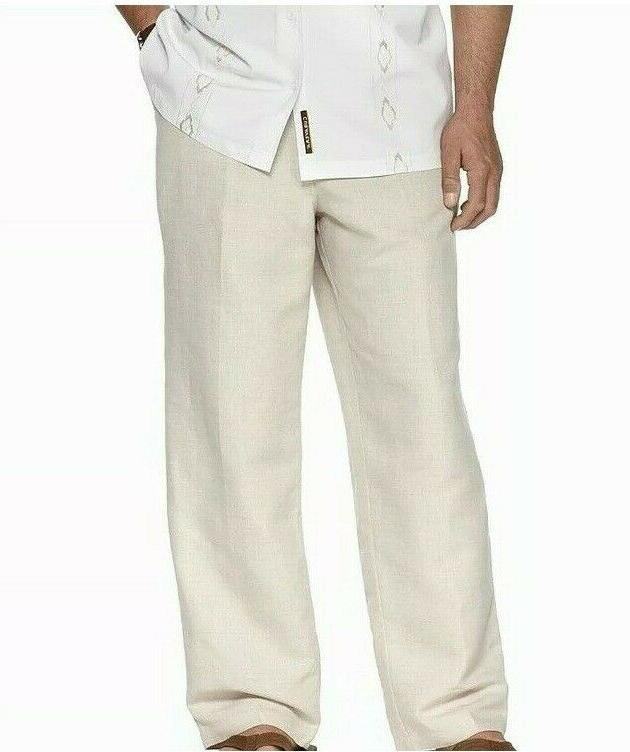 men s linen rayon drawstring waist pants