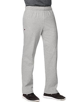 men s open bottom jersey pants gym