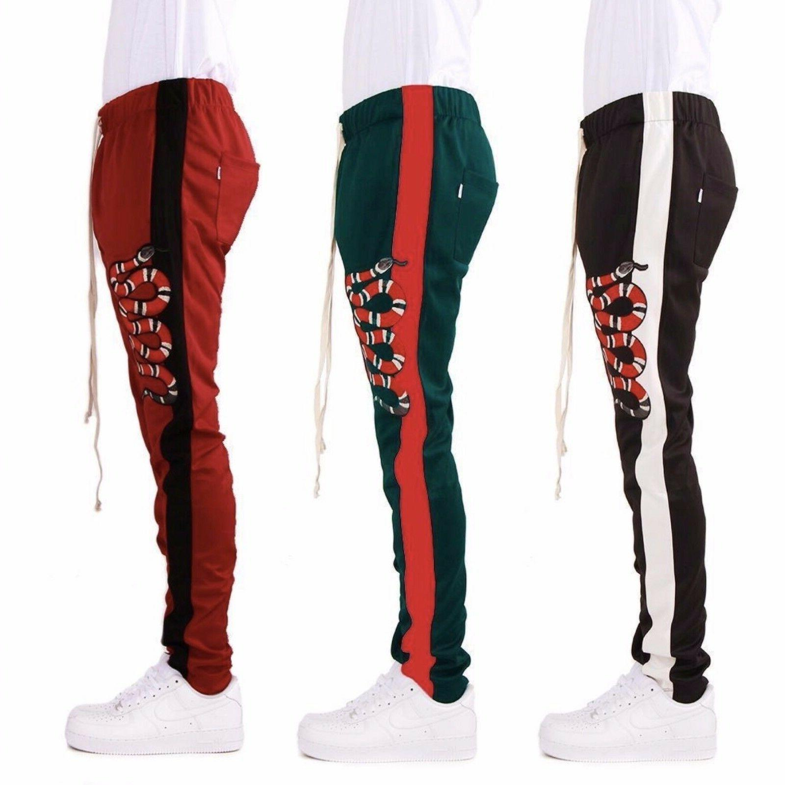 EPTM Men's Side Ankle Zipper Long Snake Patch Techno Track P