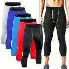Men's SKIN Compression Tights 3/4 Length Pants Sport Running