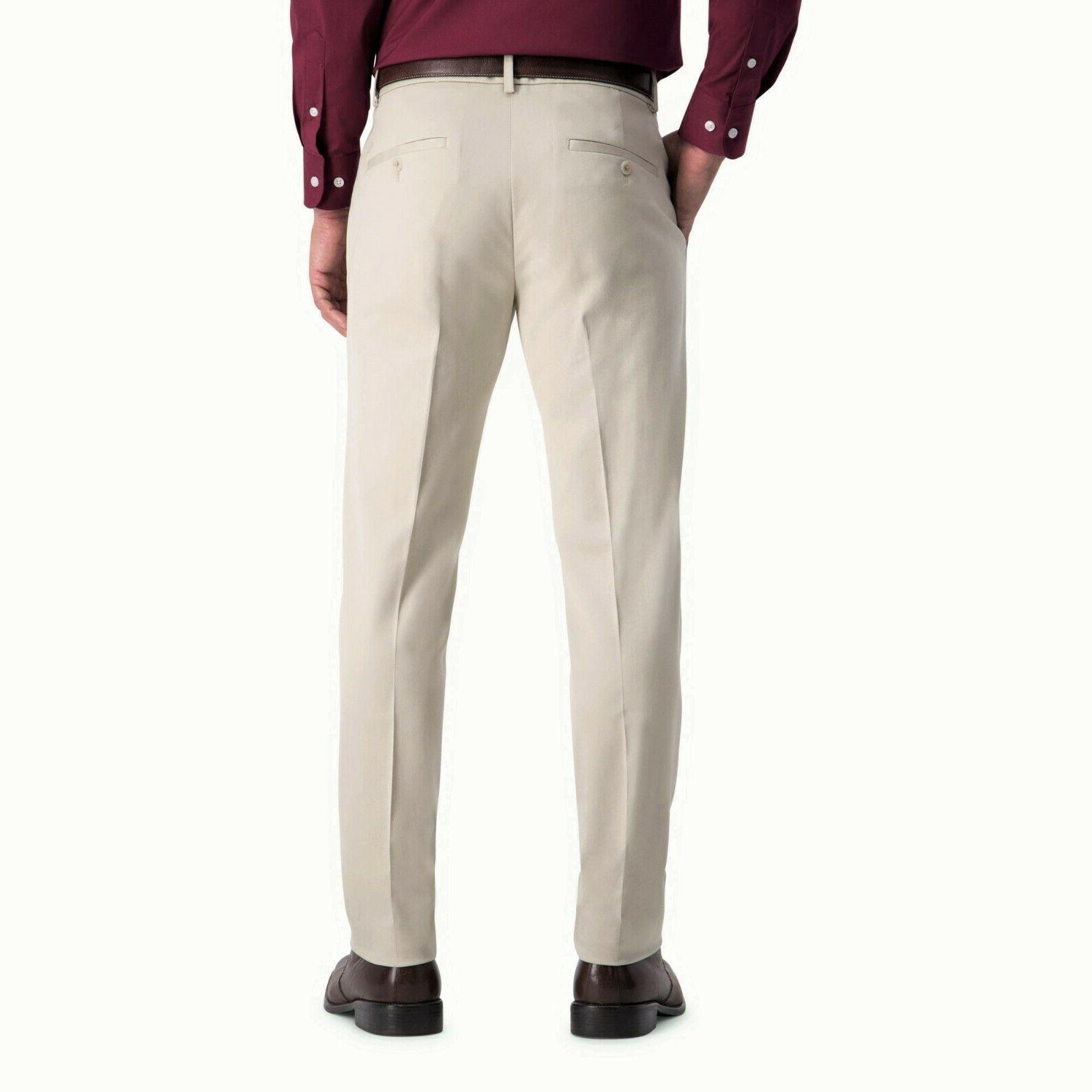Men's Slim-Fit Premium No Iron Khaki Pants,