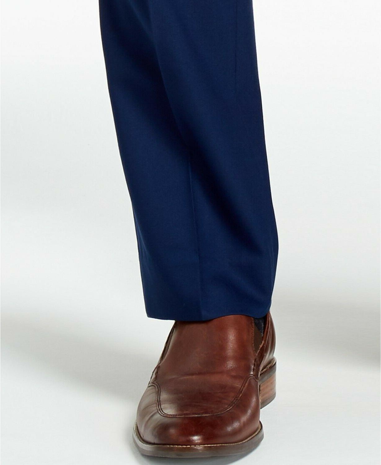 Kenneth Slim-Fit Blue Solid Dress Pants 29x32 NEW $95