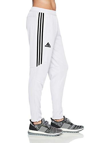 adidas Men's Soccer 17 Pants, Medium, White/Black