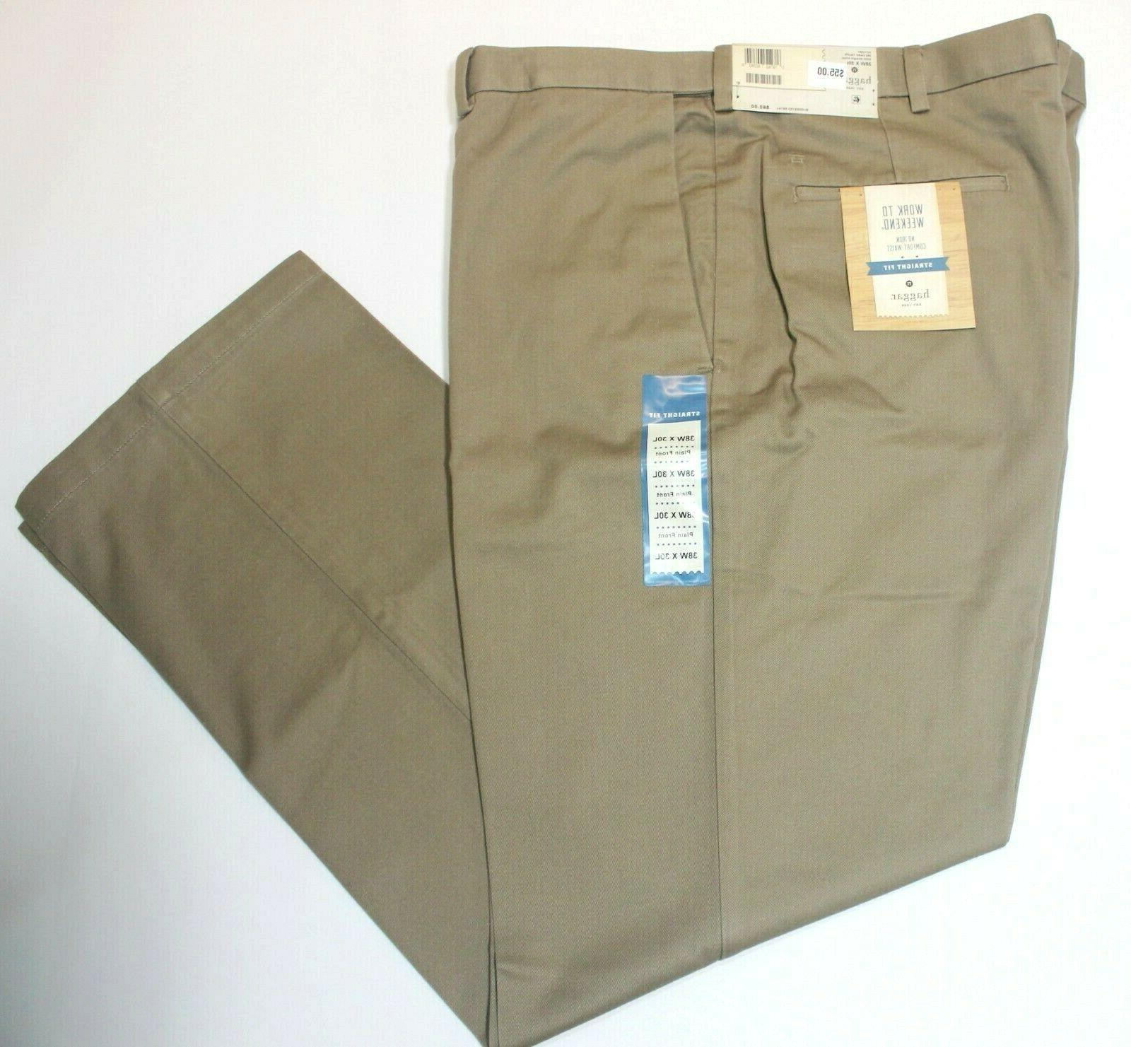 Men's Straight Front Dark Taupe Pants
