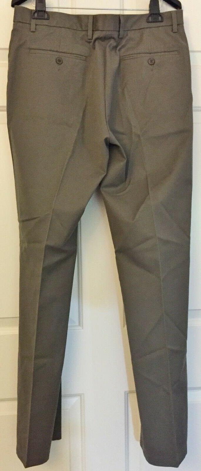 Goodthreads Men's Stretch Wrinkle Pants Taupe 32W 34L