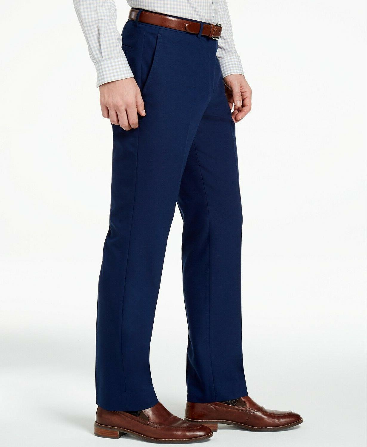 Kenneth Reaction Men's Slim-Fit Modern Blue Dress Pants $95