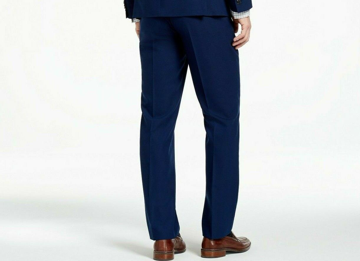 Kenneth Cole Reaction Techni-Cole Slim-Fit Blue Pants $195