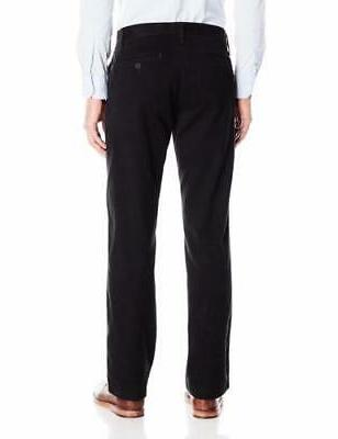 Lee Weekend Chino Straight Fit Flat Front Pant-Black-34x30-4299201-NWT