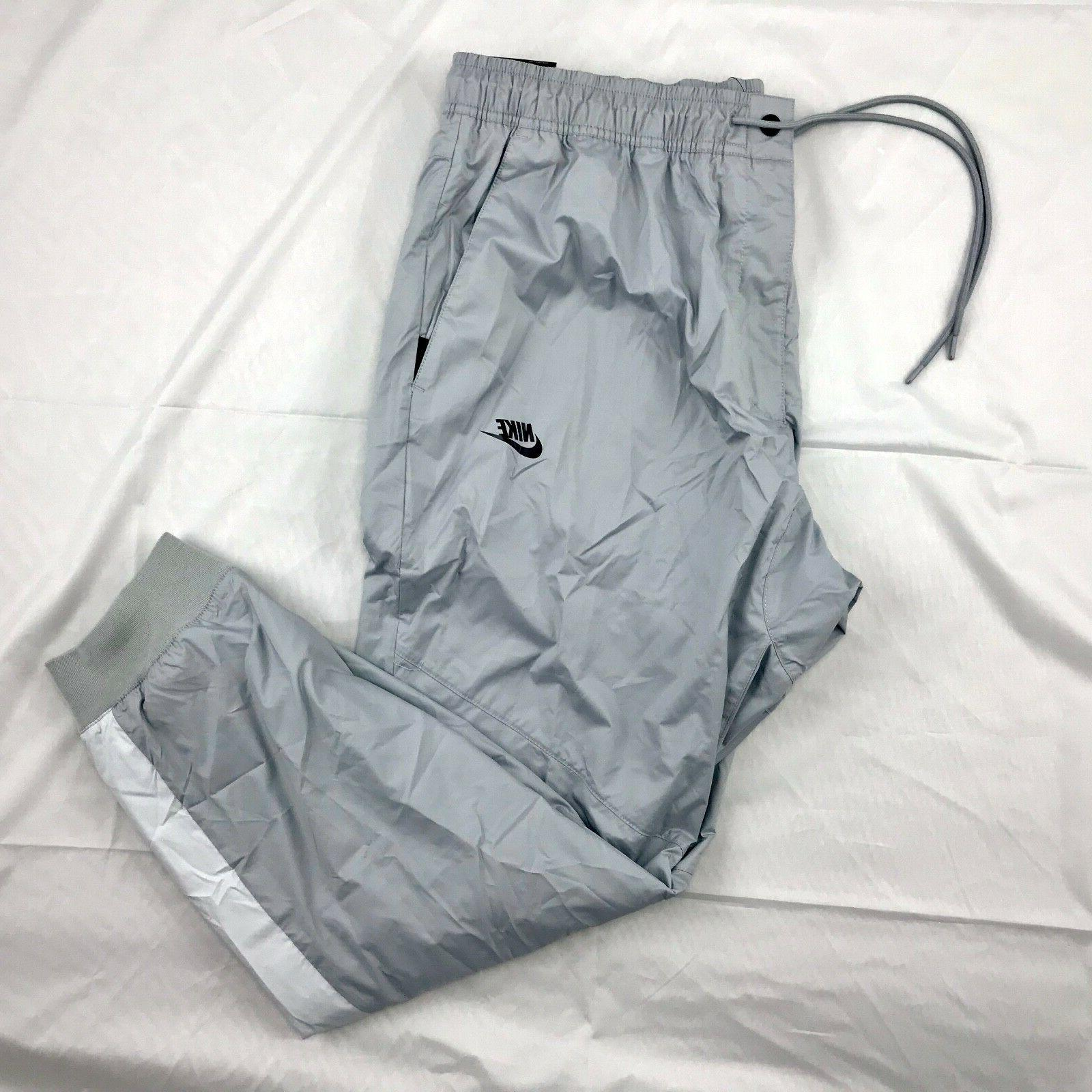 Nike Windrunner Cuffed Jogger Pants Grey Black 898403-012 Me