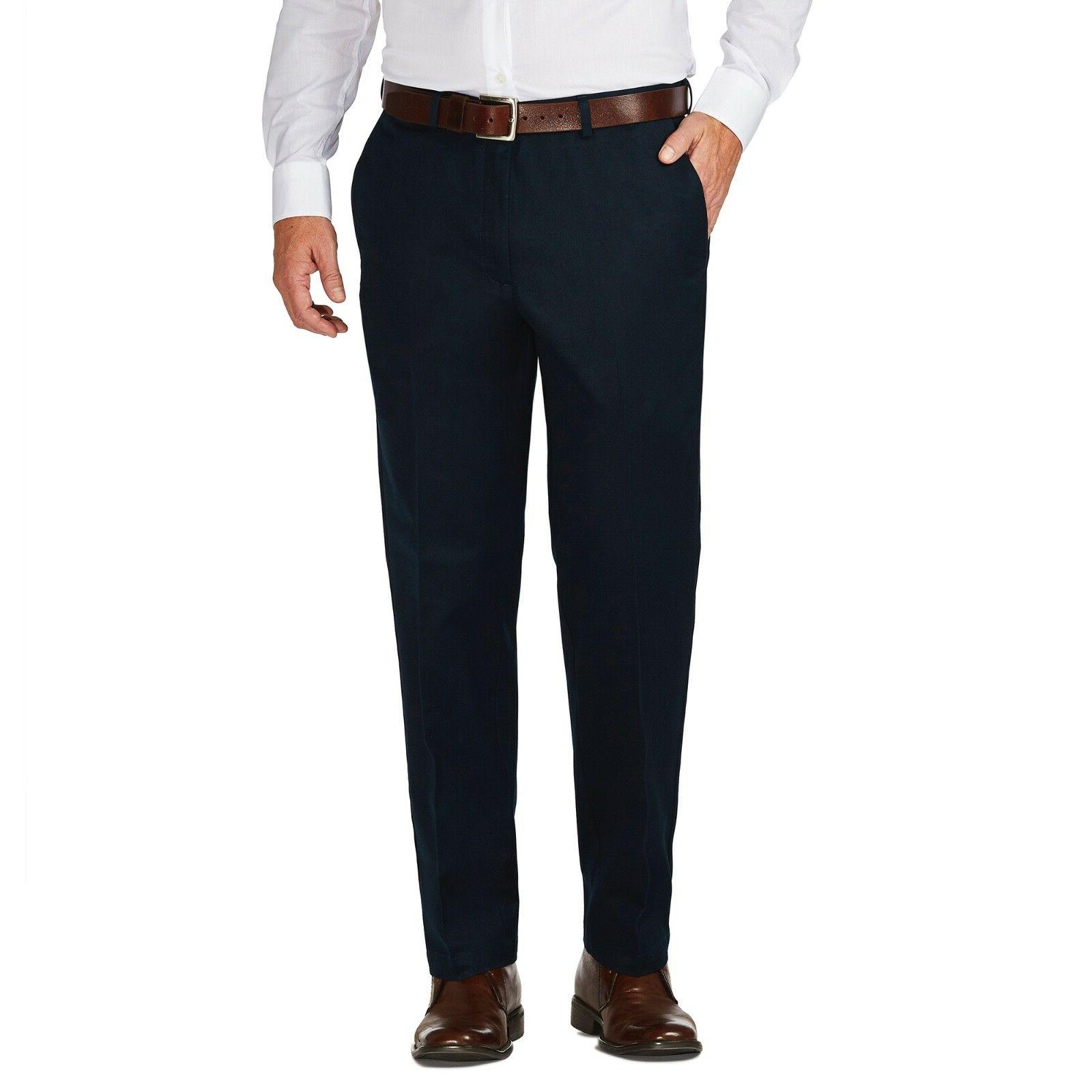 Haggar Men's Work To Weekend Khaki Flat Front Pant  Classic