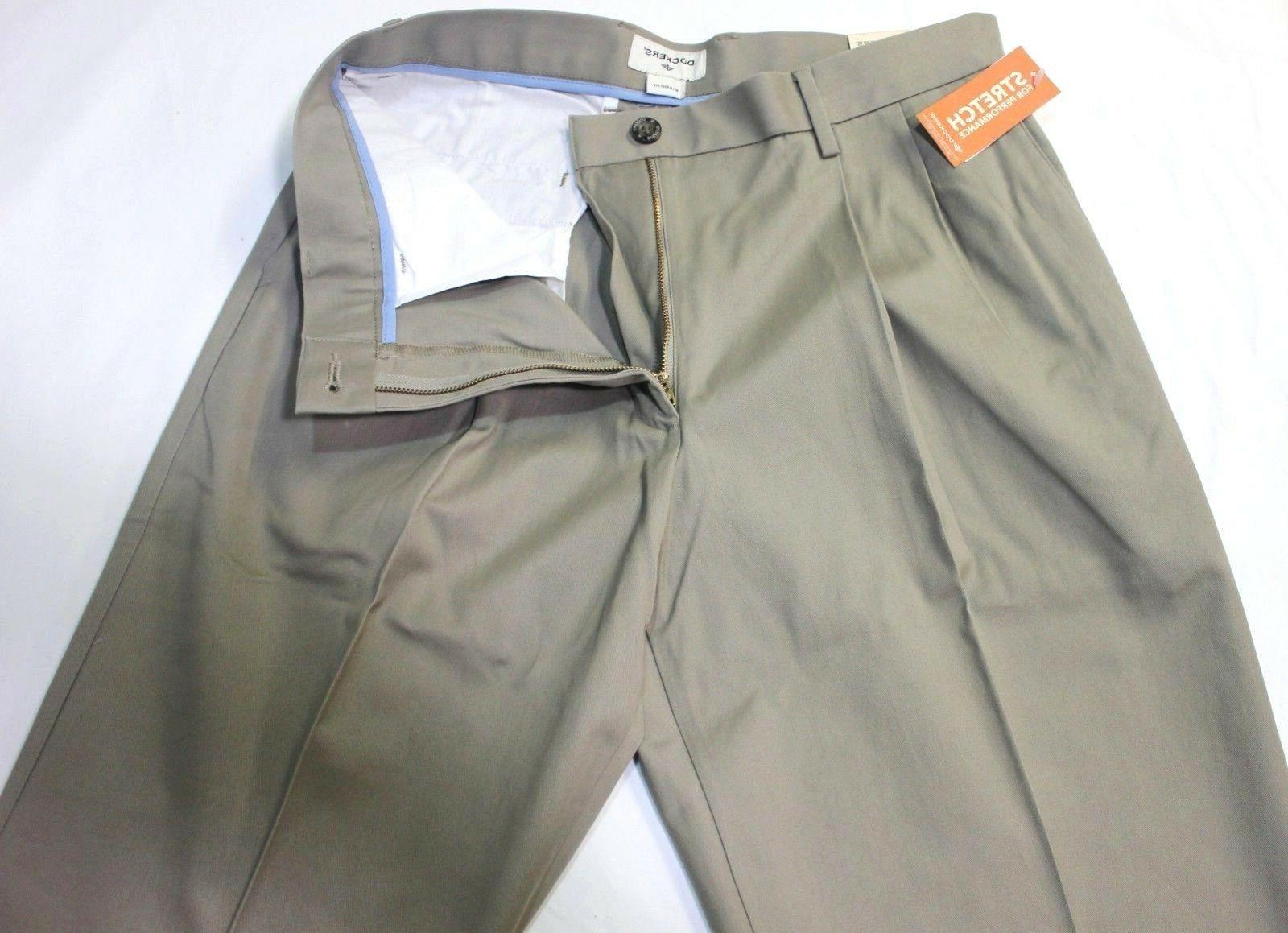 Men Dockers Relaxed Fit Beige Stretch