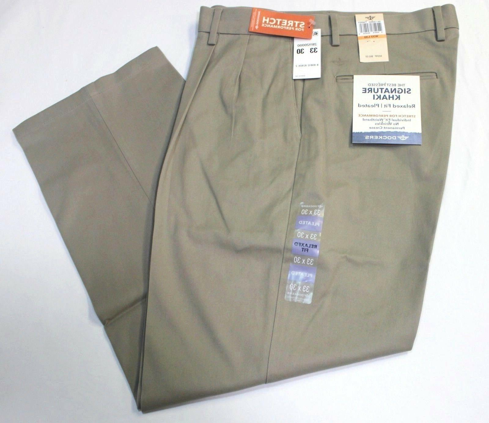 Men Dockers Relaxed Stretch