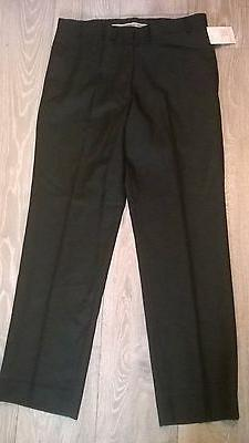 """Mens BLACK  trousers 34"""" waist top quality 45% wool, office"""