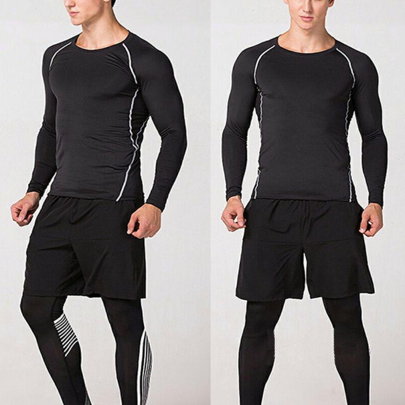 Mens Compression Thermal Base Layer Leggings Dry