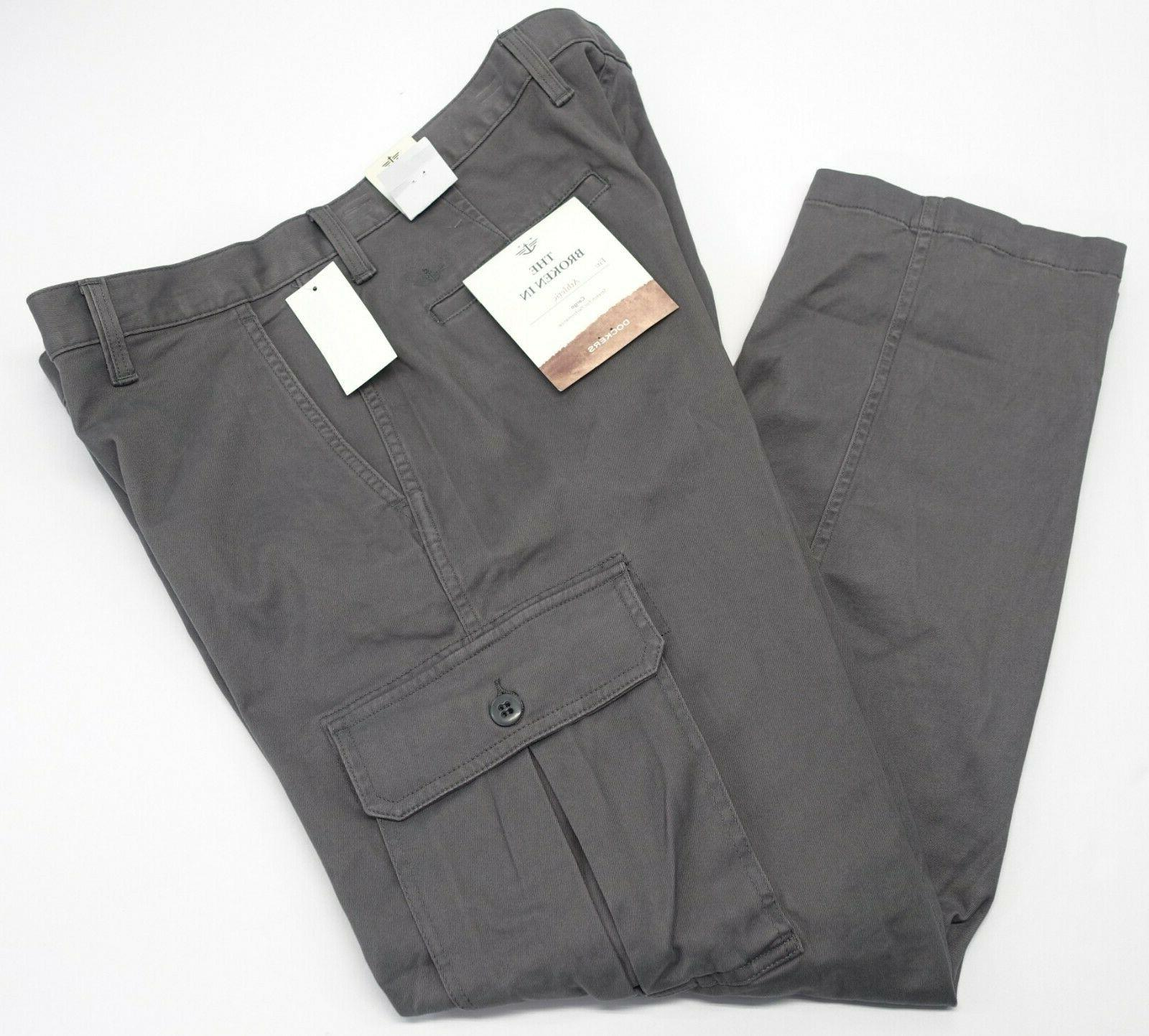 Mens Dockers Cargo Pants 30x32 Athletic Fit Stretch Performa
