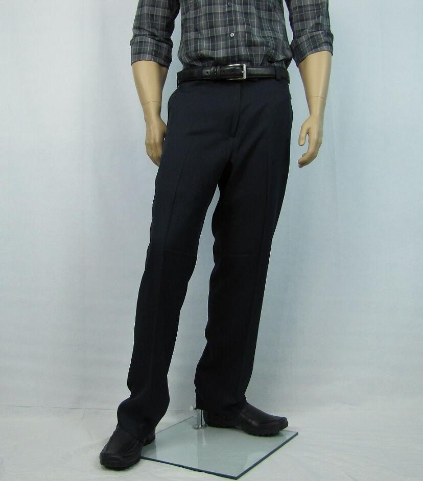 mens dress pants gabardine flat front navy