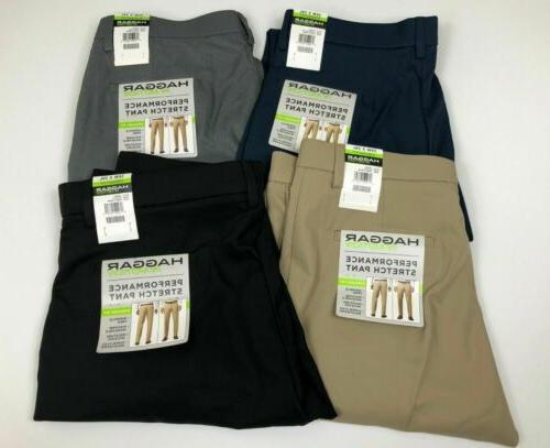 Haggar Mens Performance Pant Stretch In Motion Moisture Wick