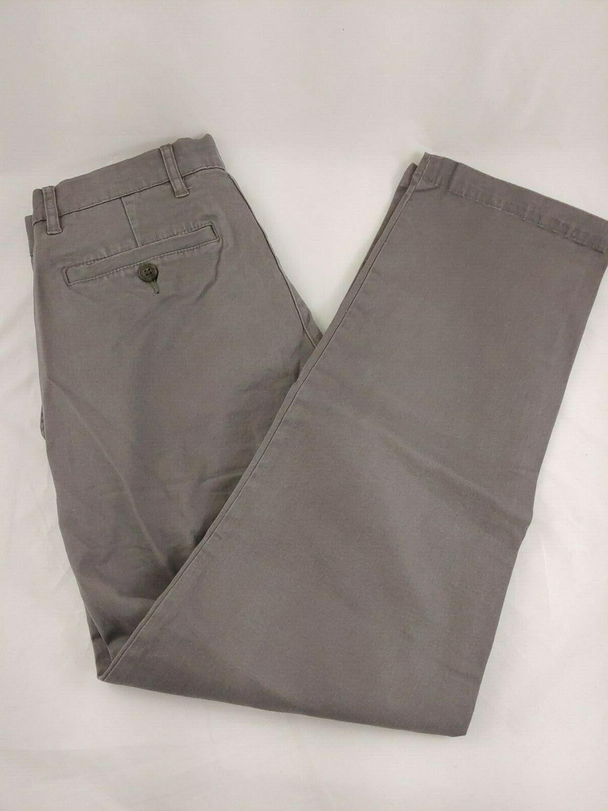 Goodthreads Mens Chino Pants Washed Comfort Gray 28L
